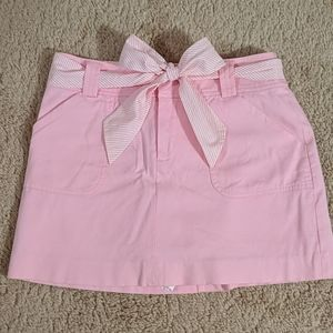Lilly Pulitzer Pink Cotton Twill Skirt